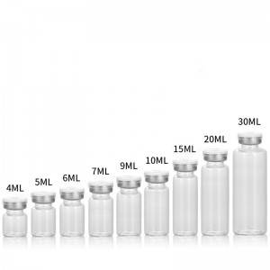wholesale and custom made 4ml to 30ml clear glass vials with filp off cap