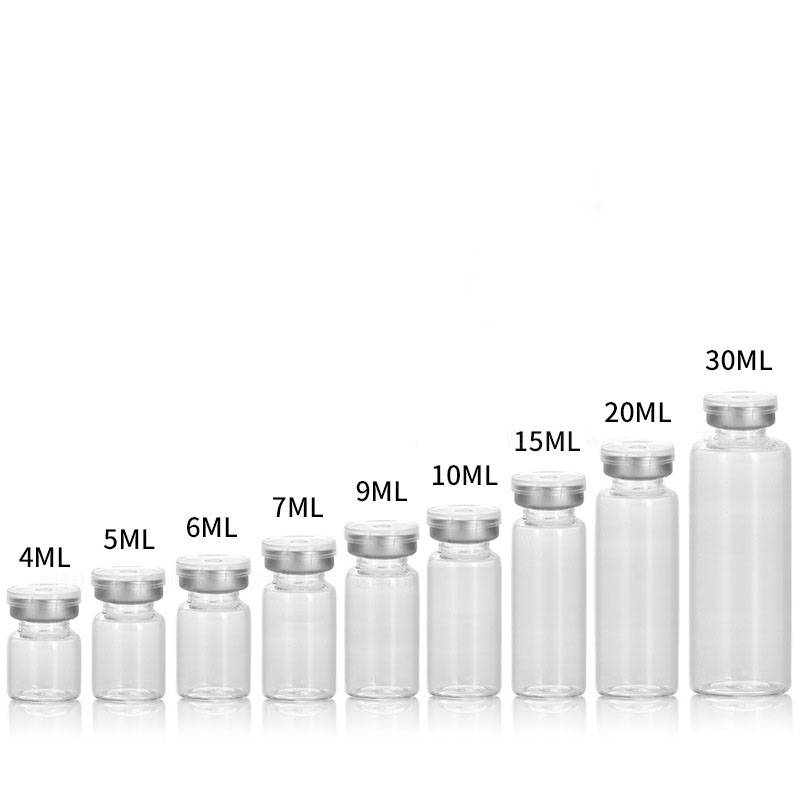 wholesale and custom made 4ml to 30ml clear glass vials with filp off cap Featured Image