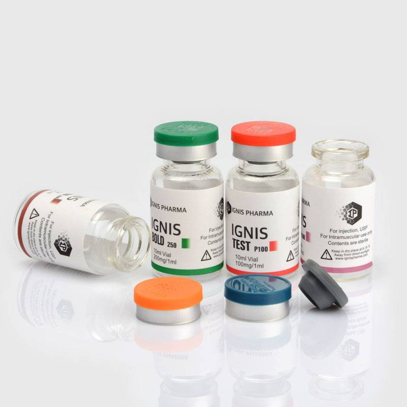 clear pharmaceutical glass vials with sticker label,  custom made sticker lable Featured Image