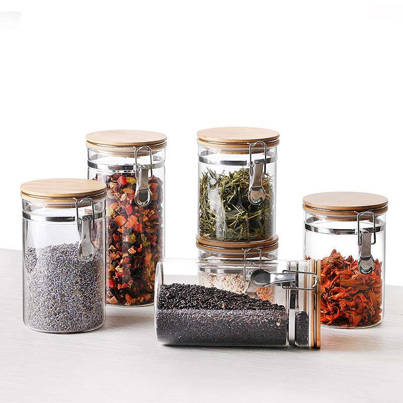 2017 wholesale price Clear Glass Candle Jars -