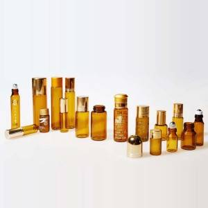 amber glass essention oil packing glass vials na may anumang mga logo ng pagpi-print