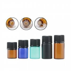 1ml 2ml 3ml  small mini sample glass vials with screw cap and with painted colors