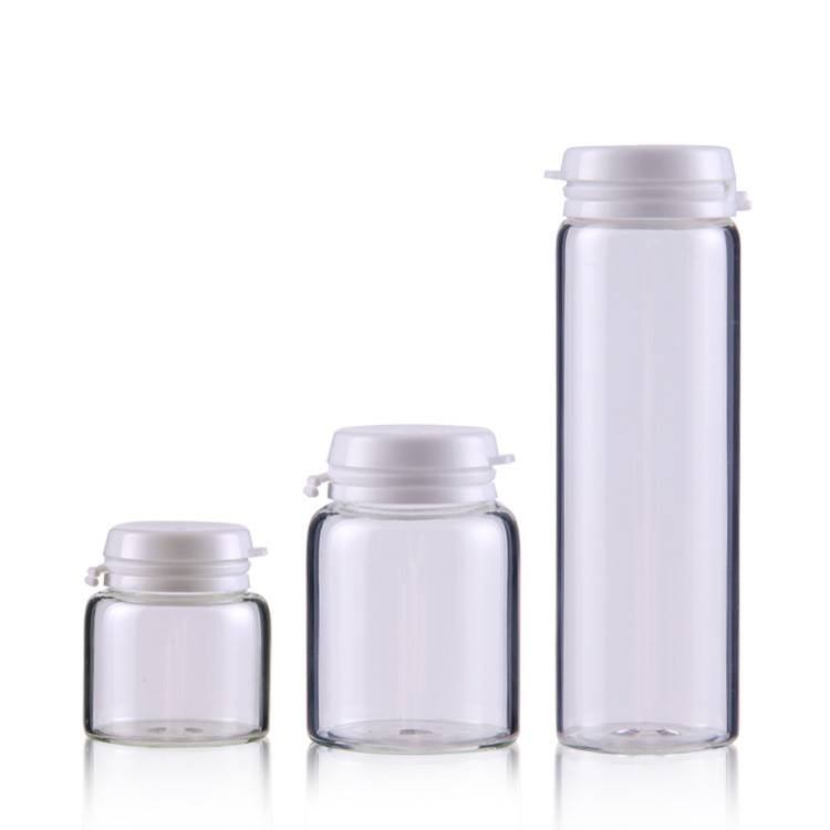 10ml 20ml 25ml 30ml 40ml clear glas bottle for packaging cosmetics mask or medicine capsule Featured Image