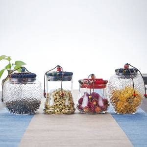 special shaped high borosilicate glass storage jars for tea leaf packing