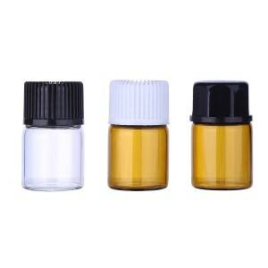 1ml 2ml 3ml 5ml small essential oil glass vials with plastic screw cap