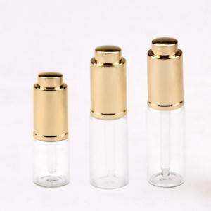 5ml 10ml press dropper cap glass vials in clear and amber glass