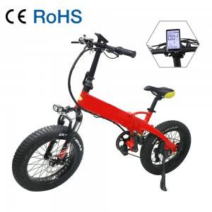 VB200 Wide Tire Foldable Assisting 20 inch Electric Bike