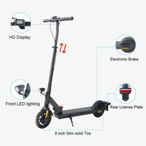 M10 Front Tube Adjustable 8.0+8.0 inch Economic Electric Scooter