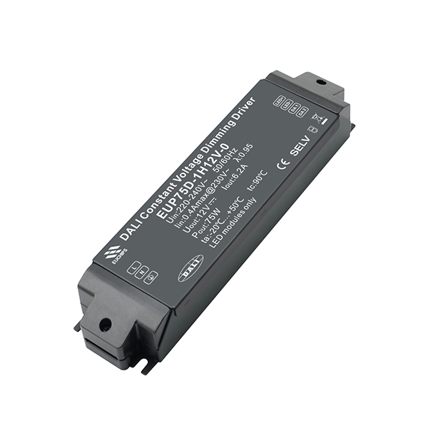 China New Product 12W Dimming LED Driver - 75W 12VDC 6.2A*1ch 220-240VAC CV DALI Driver – Euchips Featured Image