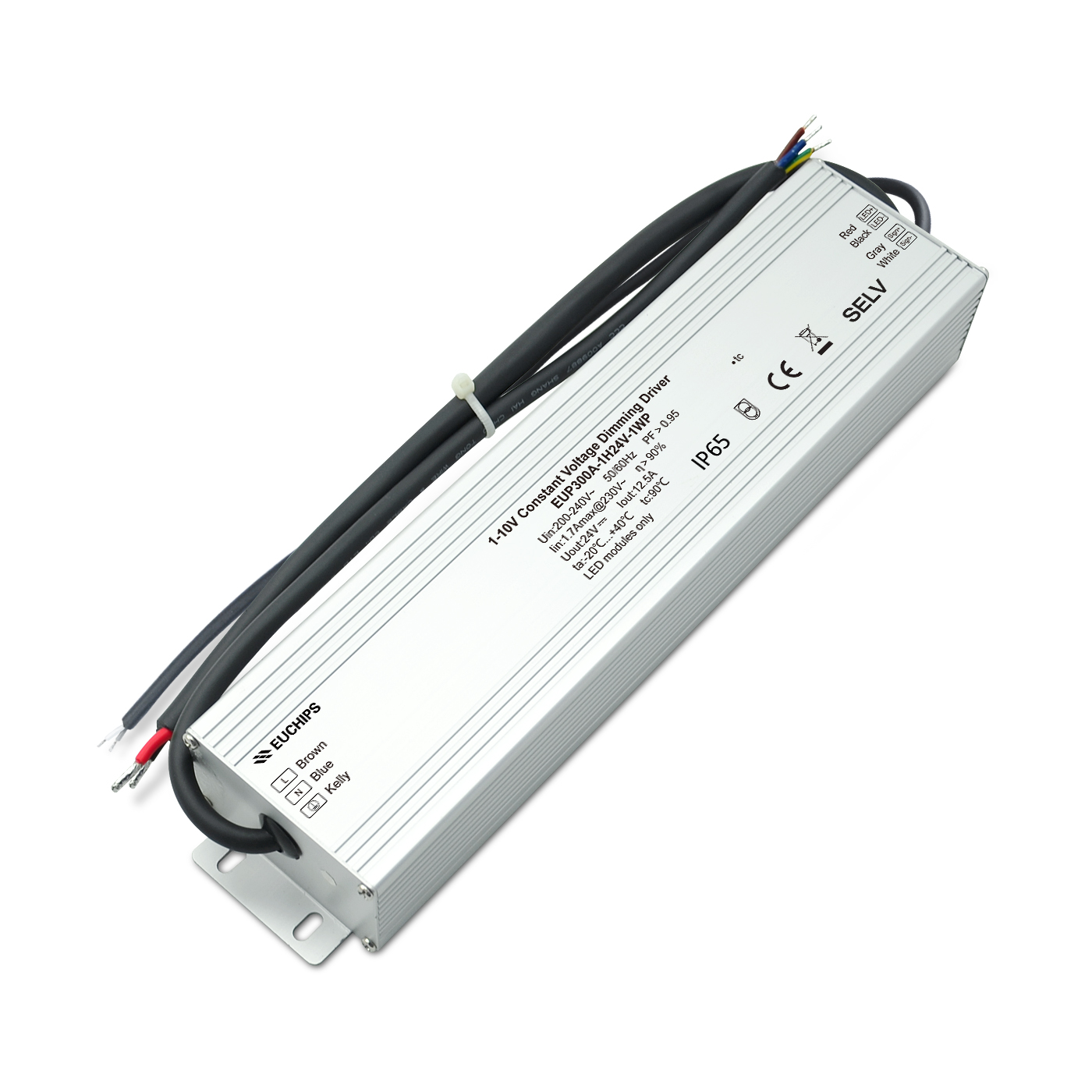 Competitive Price for 12v Dc Input Led Driver - 300w 0-10v constant voltage dimmable driver EUP300A-1H24V-0WP – Euchips