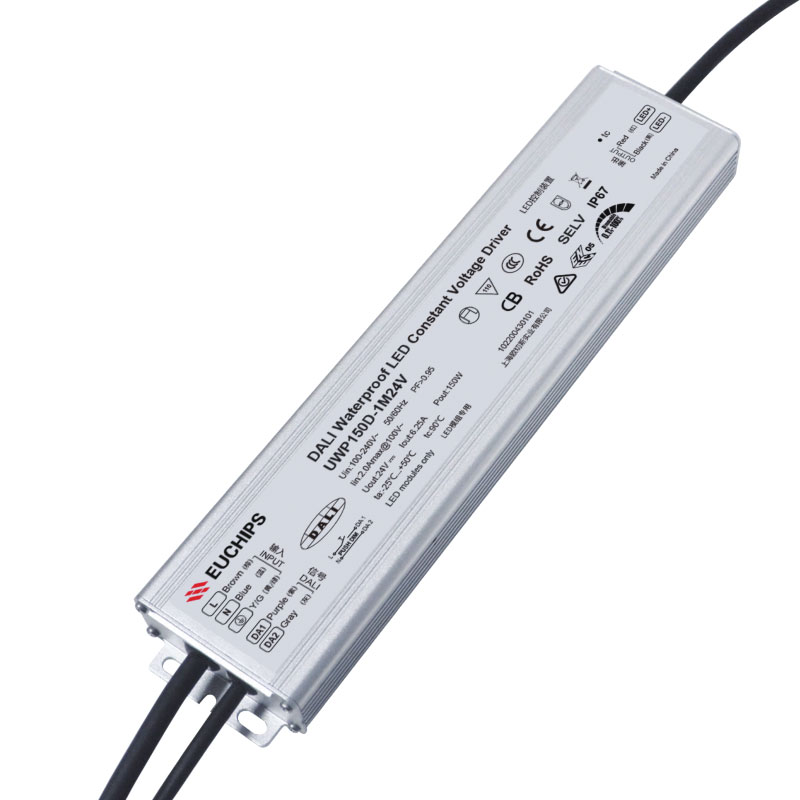 150W 24VDC Ultra-thin Waterproof DALI CV Driver Featured Image
