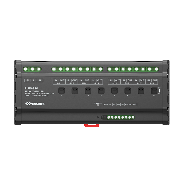 Manufacturer of Triac Power Amplifier - 20A*8ch Relay Switch Controller – Euchips
