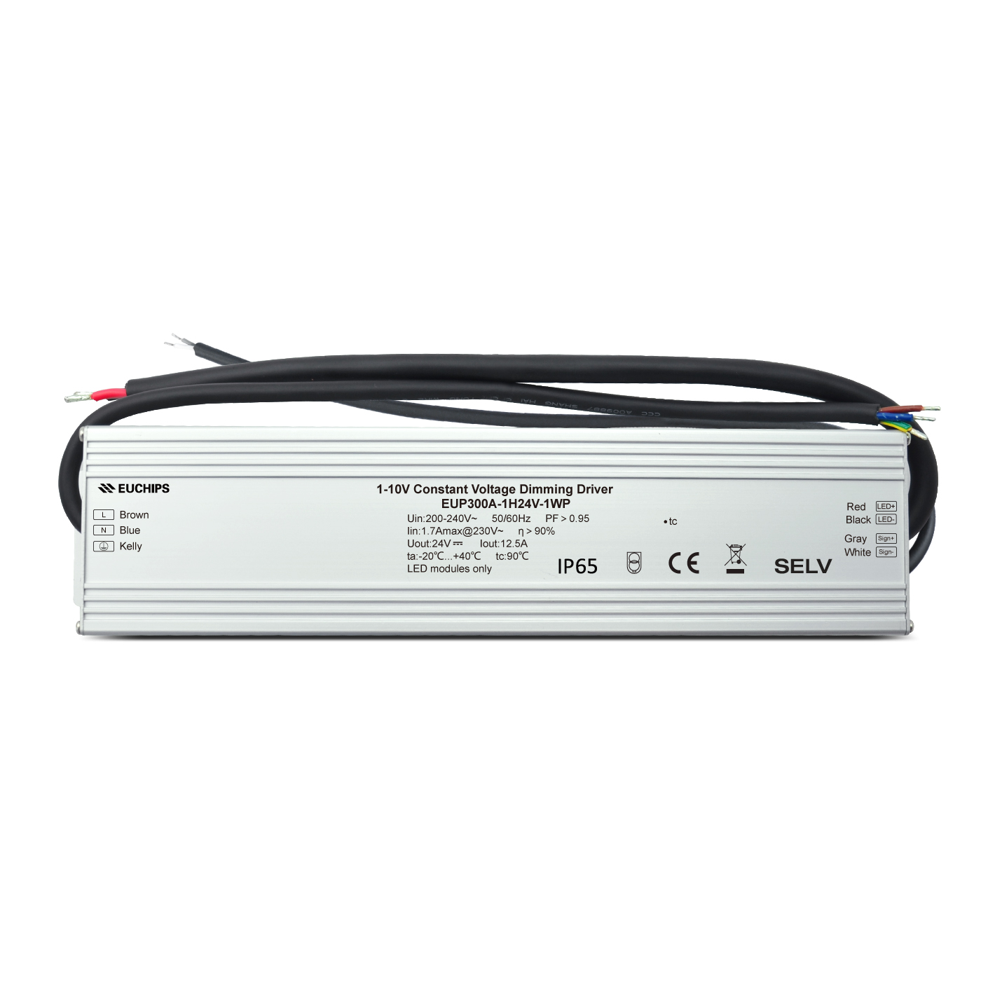 Competitive Price for 12v Dc Input Led Driver - 300w 0-10v constant voltage dimmable driver EUP300A-1H24V-0WP – Euchips detail pictures