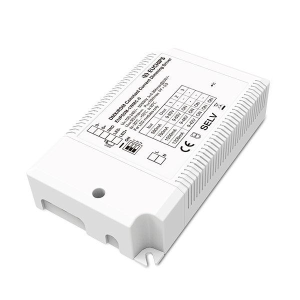 Factory Supply 192w 384w Led Dimmer - 50W 500/650/700/850/1000/1050/1200mA CC DMX Driver – Euchips