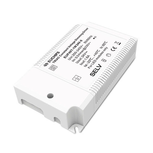 Factory Supply Led Pwm Dimmer - 40W 24VDC 1.6A*1ch Constant Voltage Triac Driver EUP40T-1W24V-0 – Euchips