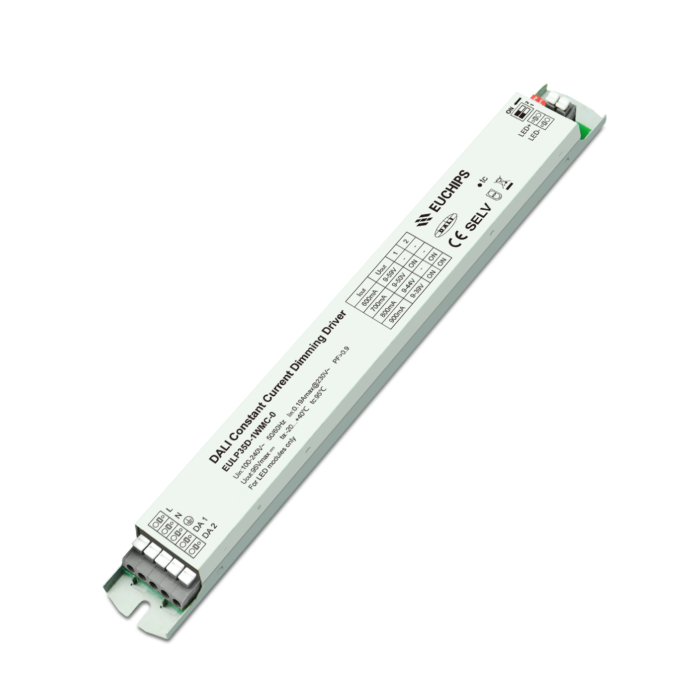 Factory Price Single Color Led Strip Light Dimmer - 35W 600/700/800/900mA*1ch CC DALI Driver – Euchips