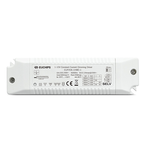 Discountable price Led Industrial High Bay Lighting - 350/500/550/700mA 20W  CC 1-10V Driver – Euchips detail pictures