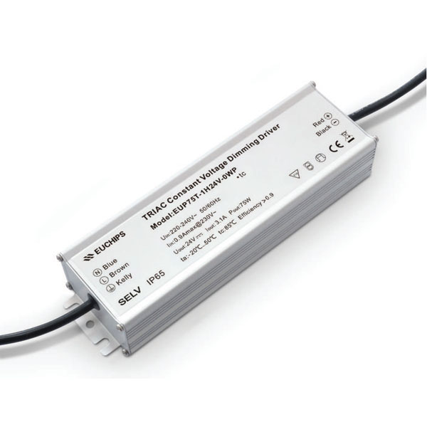 factory low price Wifi Led Driver 3300ma - 75W 24VDC 3.1A*1ch CV Triac Driver – Euchips