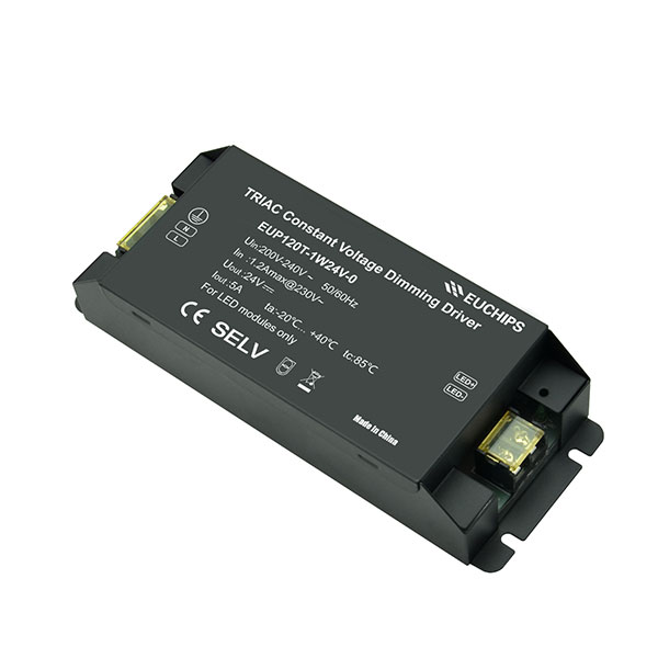 Supply OEM/ODM Class 2 Power Supply 12v Dimmable – 120W 24VDC 5A*1ch CV Triac Driver – Euchips detail pictures
