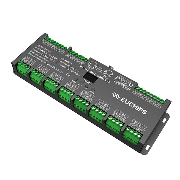Factory For 100w Cv Triac Dimming - 12-24VDC 5A*24ch DMX512 Decoder & Master – Euchips detail pictures