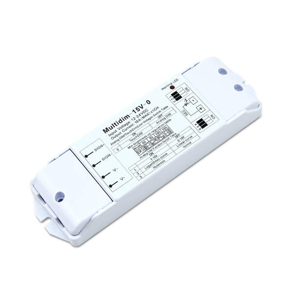 Supply OEM/ODM Triac Dimming Driver - 12-24DC 15A*1ch CV 0-10V Dimmer – Euchips