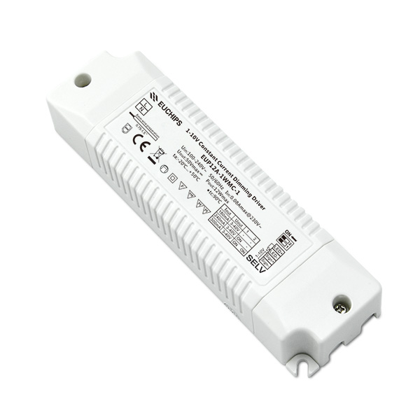 100% Original Led Driver Power Supply - 12W 180/240/300mA CC 1-10V Driver – Euchips detail pictures