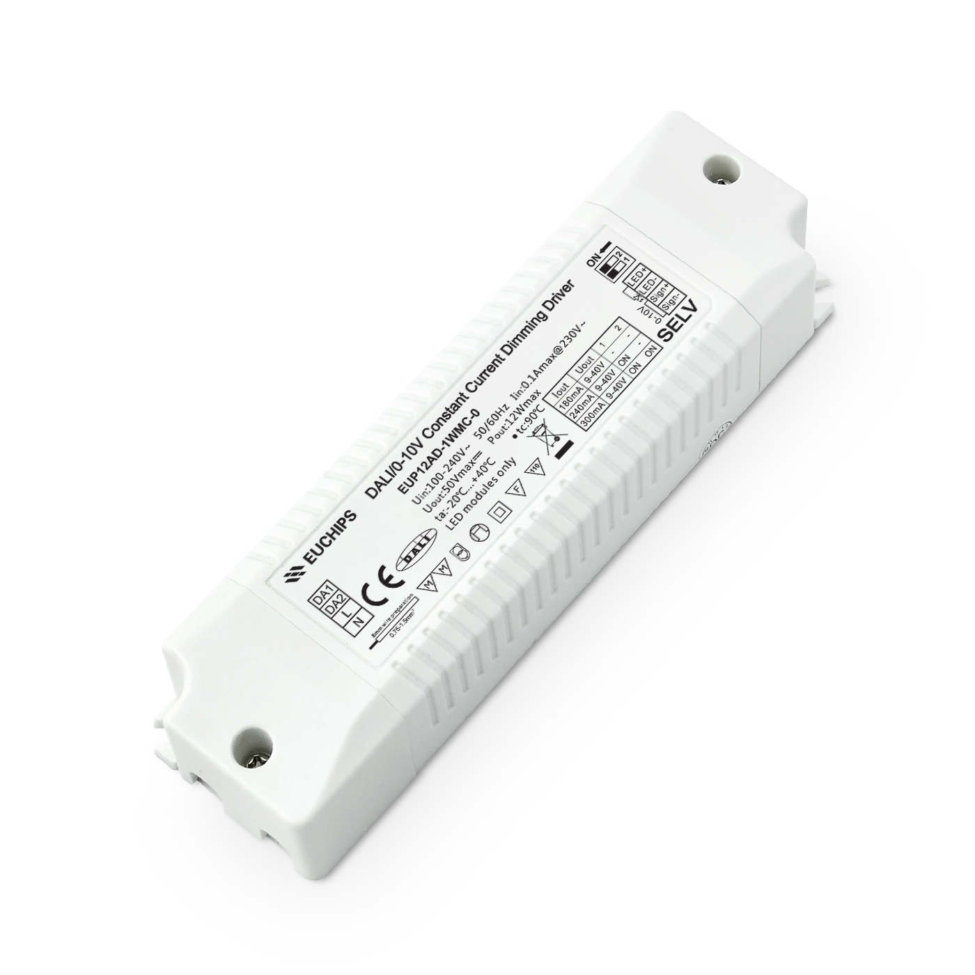 Good User Reputation for Tri-proof Led Light - 12W 180/240/300mA CC DALI&0-10V Driver – Euchips