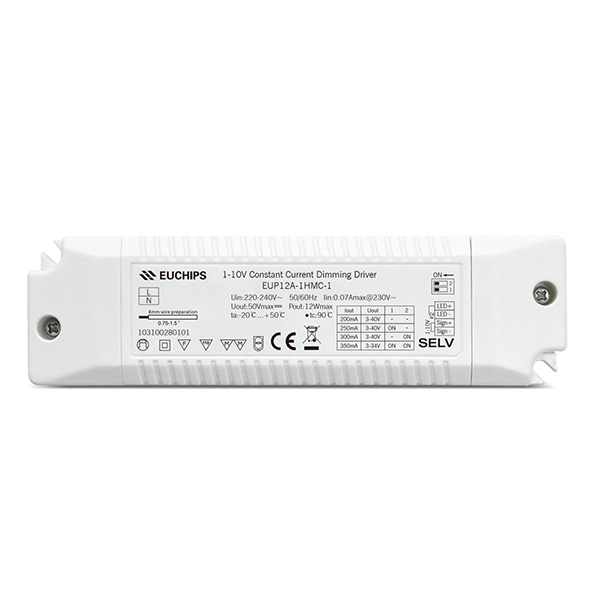 Factory Cheap 2 Way Led Light Remote Controller - 200/250/300/350mA 12W CC 1-10V Driver – Euchips
