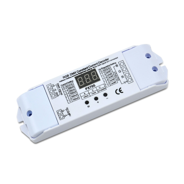 300/350/500/650/700mA*3ch 12-48VDC Connector Button CC DMX Decoder