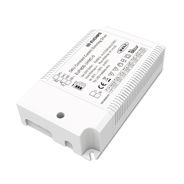 Low MOQ for Led Driver Led L30w - 40W 850/900/950/1000/1050/1100/1150/1200mA CC DALI Driver – Euchips