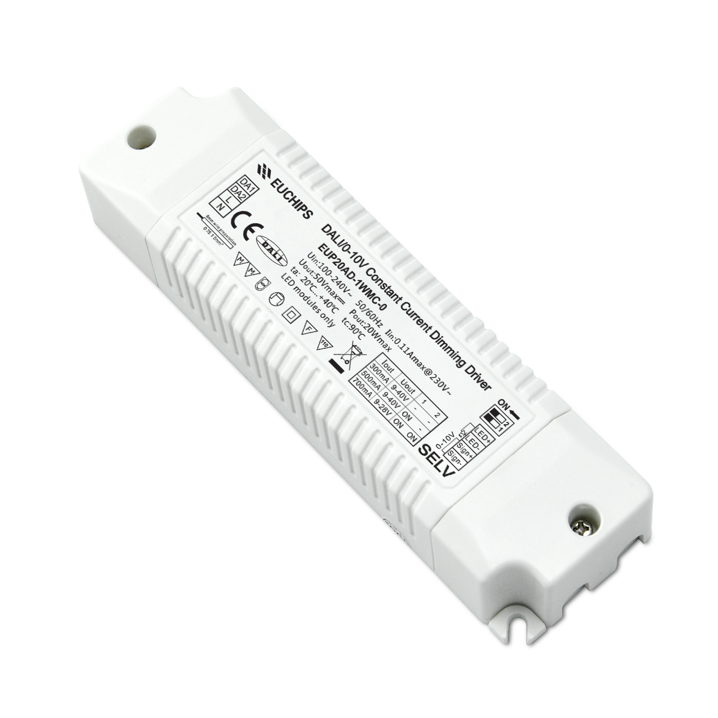 Personlized Products 8 Ways Dmx Splitter - 20W 300/500/700mA CC DALI&0-10V Driver – Euchips