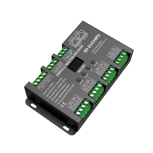 Lowest Price for Dimmable Led Driver 300ma - 12-24VDC 5A*12ch DMX512 Decoder & Master – Euchips