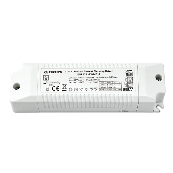 Rapid Delivery for 8 Routes Dmx Signal Driver Aplifier - 12W 180/240/300mA CC 1-10V Driver – Euchips detail pictures