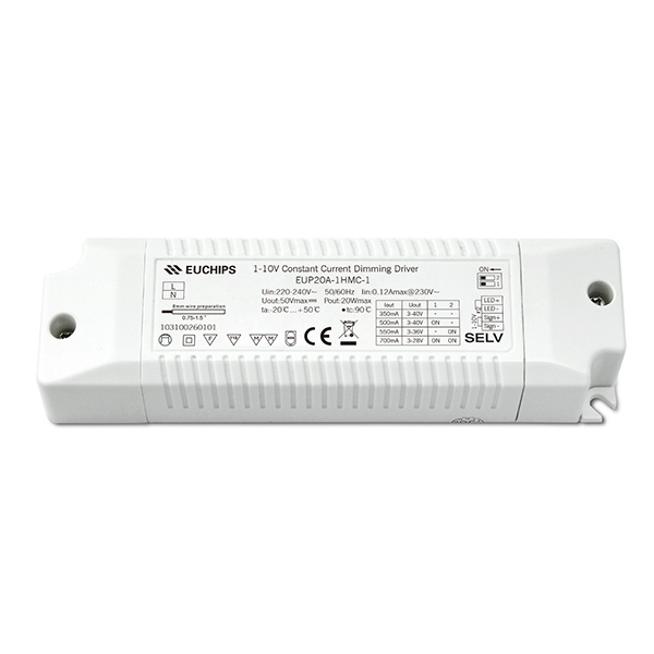Discountable price Led Industrial High Bay Lighting - 350/500/550/700mA 20W  CC 1-10V Driver – Euchips