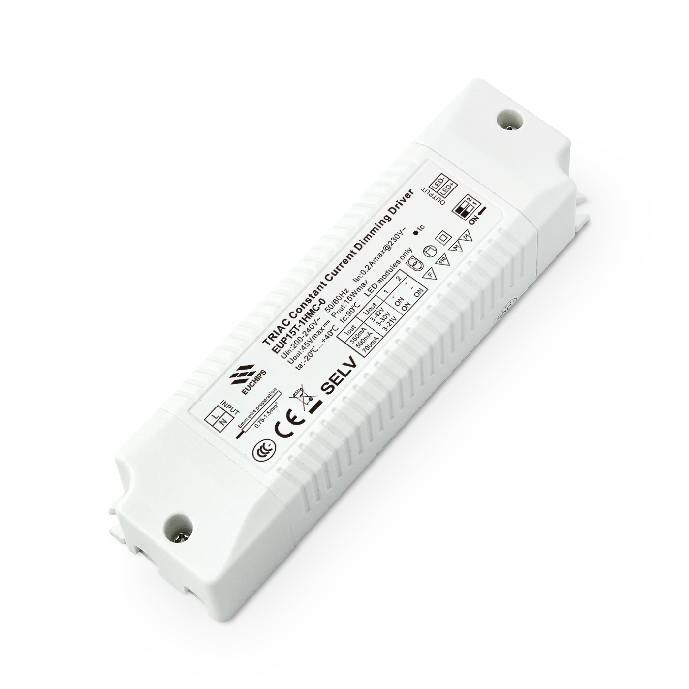 Quality Inspection for 2801f – Led Strip Rf Dimmer - 15W 280/350/380/450mA*1ch CC Triac Driver – Euchips