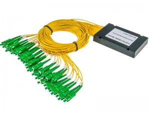 Custom SC / APC 1*32 PLC Optical Fiber Splitter With 3.0mm Cable