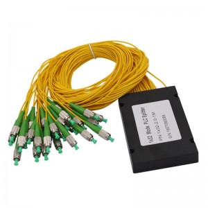FC / APC connector 1×32 way PLC coupler fiber optic ROHS Certifaction