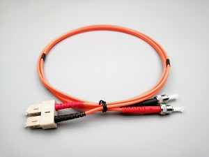 Duplex SC/UPC-ST/UPC-OM2-PVC-3.0mm-Orange Fiber Optic Patchcord