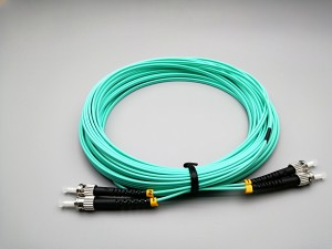 ST/UPC TO ST/UPC MULTIMODE 50/125 DUPLEX 2.0MM LSZH/PVC PATCH CORD OM3