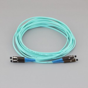MU/UPC to MU/UPC Duplex OM4 50/125 Multimode LSZH Fiber Patch Cable