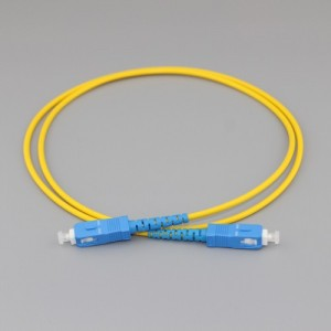 SC/PC to SC/PC Simplex G657A2 9/125 Singlemode PVC Fiber Patch Cable