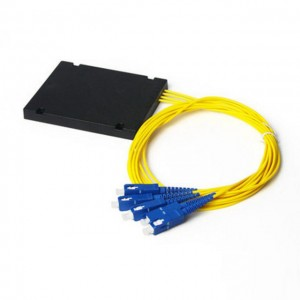 1*4 PLC Optical Fiber Splitter, With SC/UPC Connector