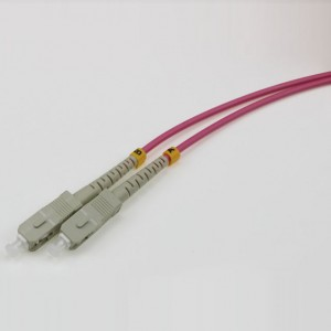 SC UPC-SC UPC MM SX OM4 3.0mm Patch Cord red purple