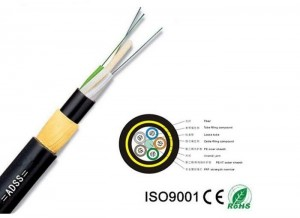 Aramid Yarn Fiber Optic Cable High Voltage Power All – Dielectric 12-144 Core