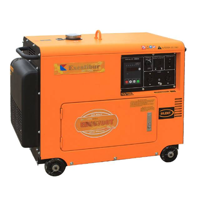 EDE6700T Silent Diesel Generator 5kw with 10HP diesel engine Excalibur Dragon Series Featured Image