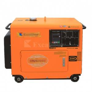 EDE6700T Silent Diesel Generator 5kw with 10HP diesel engine Excalibur Dragon Series
