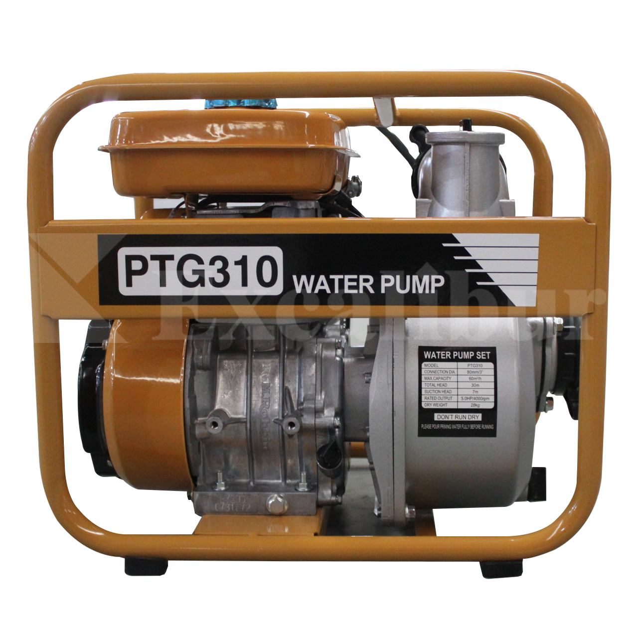 2″ 3″ Gasoline Water Pump PTG210 PTG310 Powered by EY20 5.0HP engine