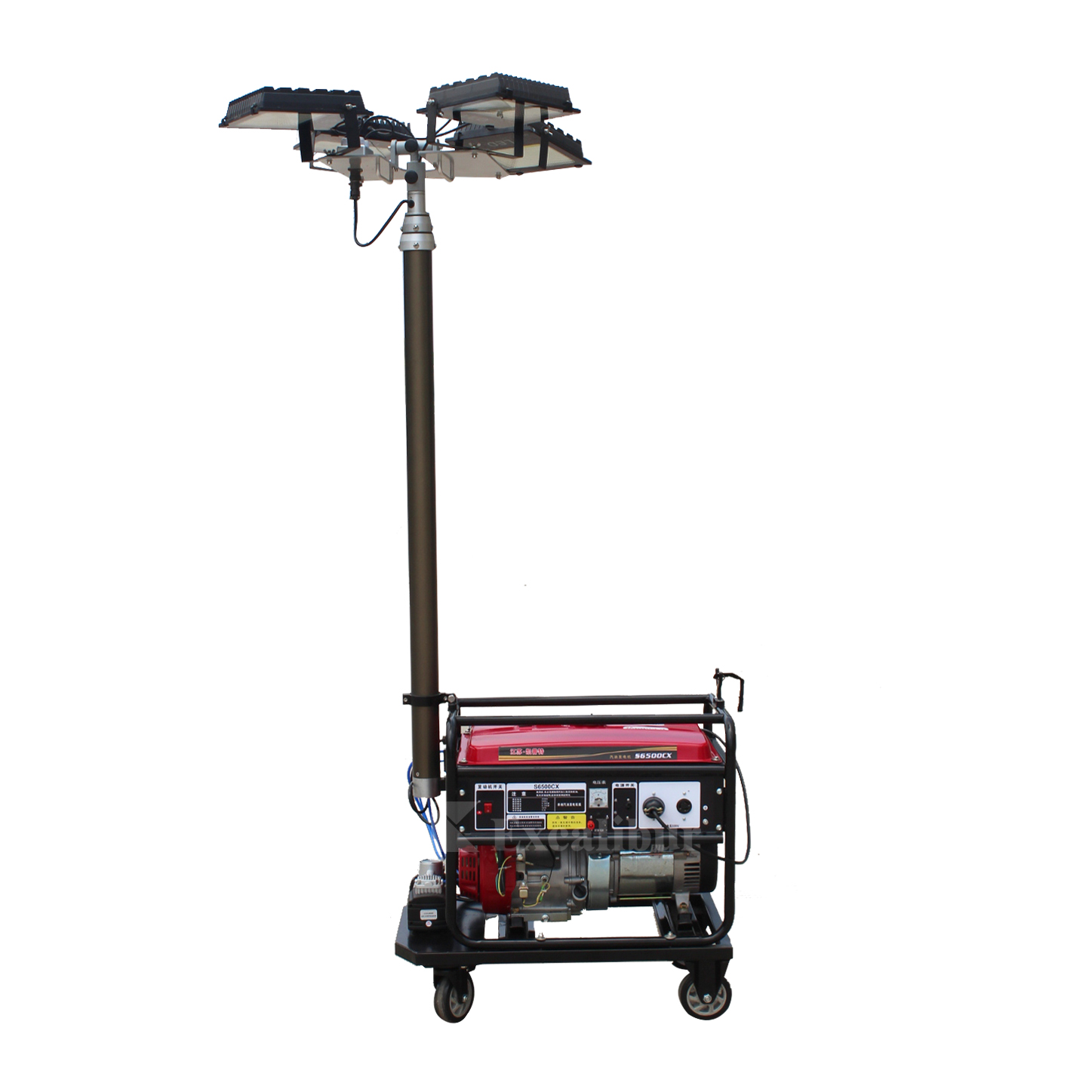 Excalibur High Quality Mobile Lighting Tower With Mast Lifting Height 9 Meter