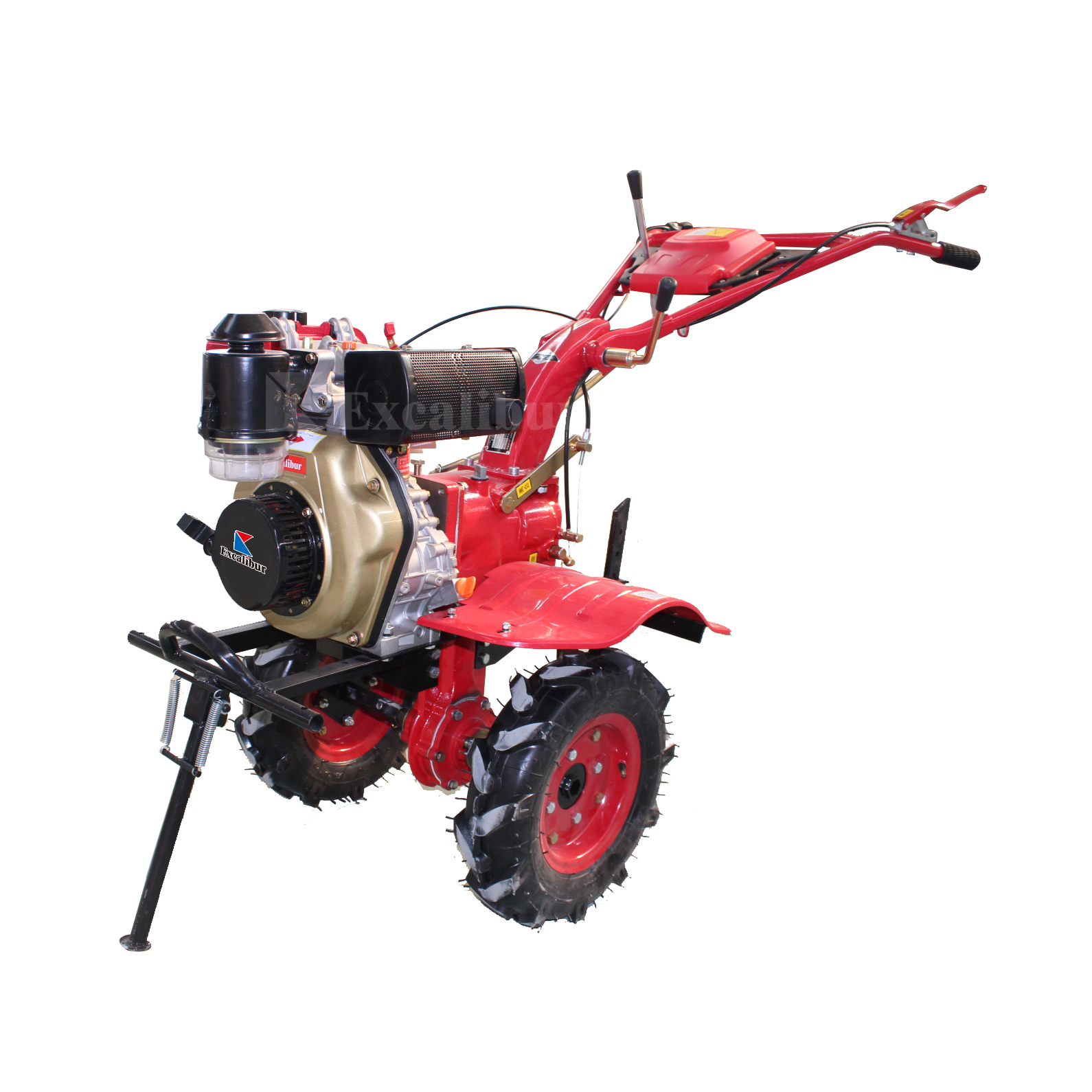 Excalibur 10HP Diesel Rotary Cultivator Walking Tractor