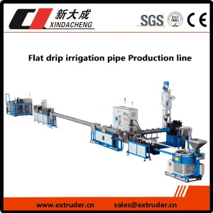 Flat drip irrigation pipe Production line